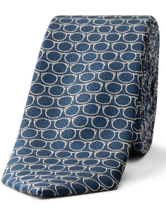Glasses Pattern Tie