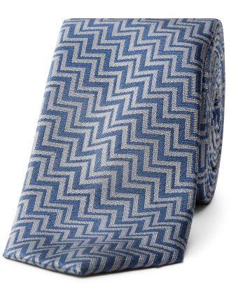Zig Zag Design Tie