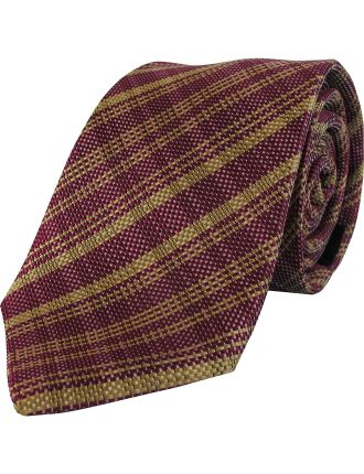 Woven Plaid Tie
