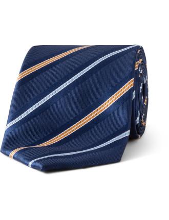 2 Colour Stripe Tie
