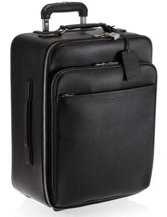 Milano Dauphine Leather Carry On Suit Case