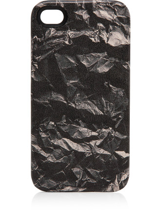 Crumpled Paper Print Phone Case