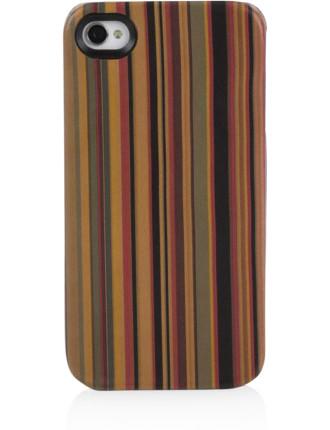 Leather Multistripe I-Phone Case