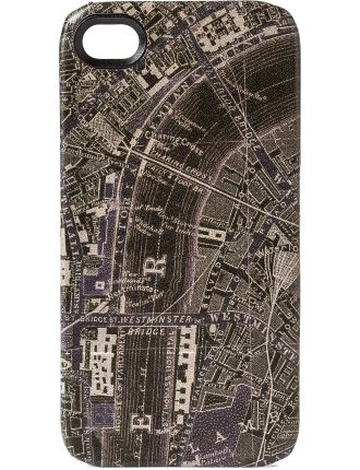 Leather Phone Case With London Panorama