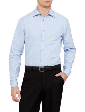 Slim Plain Business Shirt with Double Cuff