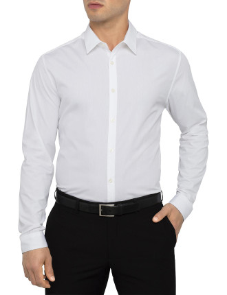 Slim Plain Business Shirt with Single Cuff