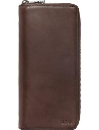 Shelvia Plain Calf Travel Wallet