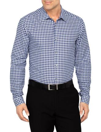 Slim Medium Gunfham Check Business Shirt W/ Sc