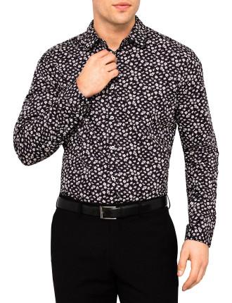 Slim Floral Business Shirt W/ Sc