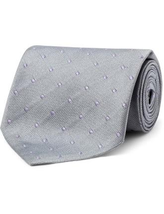 8cm Woven Silk Dot Tie W/ Naked Lady