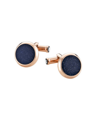 Meisterstück Cufflinks Red Gold/PVD Goldstone