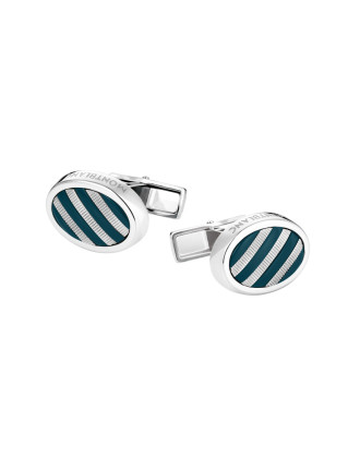 John.F.Kennedy Cufflinks with precious resin inlay
