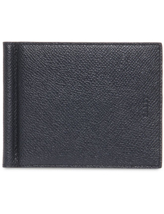 Brigaderie 8cc Leather Bicolour Bifold Money Clip Wallet