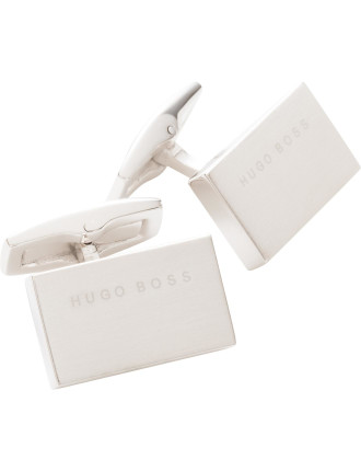 T-Greg Brushed Rectangluar Logo Cufflink