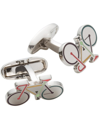 Multistripe Bicycle Cufflink