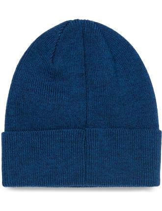 Merino Plain Blue Beanie
