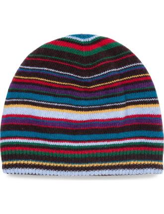 Multistripe Knitted Beanie