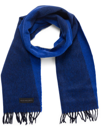 Woven Triangle Geo Scarf With Fringing