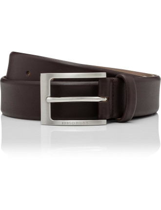 Barnabie 35mm Silver Prong Buckle Branded Dress Belt