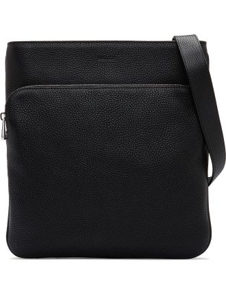 City Pebbled Leather Cross Body Bag