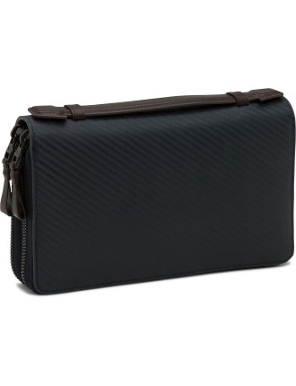 Chassis Leather Double Zip Organiser