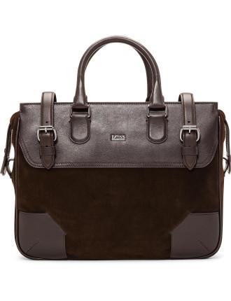 Sahel Suede & Leather Briefcase