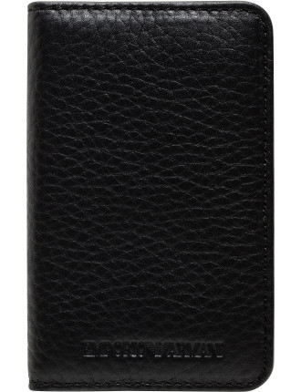 Linea Luxor Pebbled Leather 6 Card Case