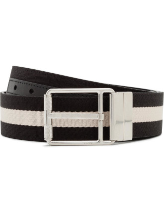 Trainspotting Fabric/Leather Reversible Pin Buckle Belt