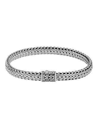 Classic Chain Silver Medium Flat Chain Bracelet