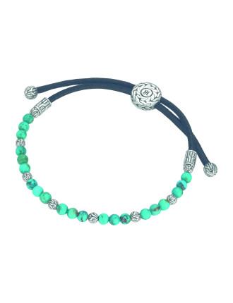 Batu Classic Chain Silver Round Beads Bracelet