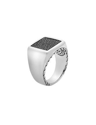 Classic Chain Silver Jawan Signet Ring