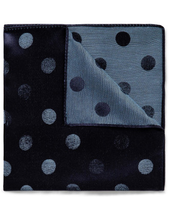 Spot Ombre 54% Silk 46% Cotton Pocket Square