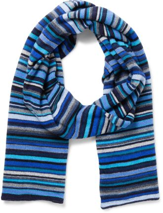 Multistripe Knitted Scarf