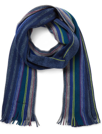 Wool Stripe Knitted Scarf