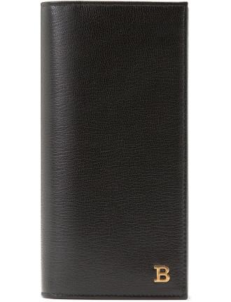 Bally B 8cc Vertical Coat Wallet W/ Zip Compartment
