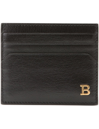 Bally B Leather Business Card Holder