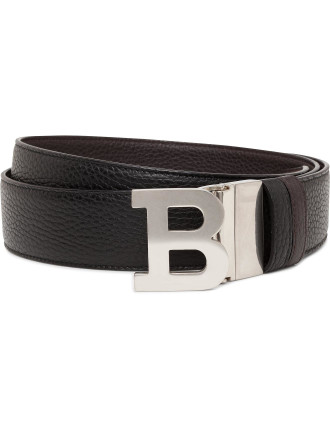 Pebbled Leather Jean Belt