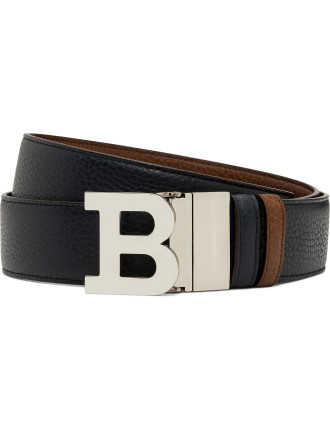 Pebbled Leather Jean Belt