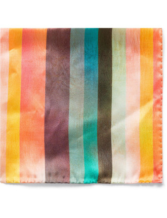 Mailine Multistripe Silk Pocket Square