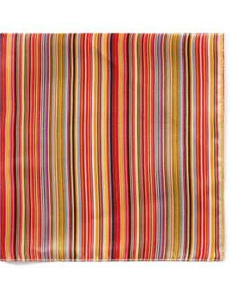 New Multistripe Silk Pocket Square