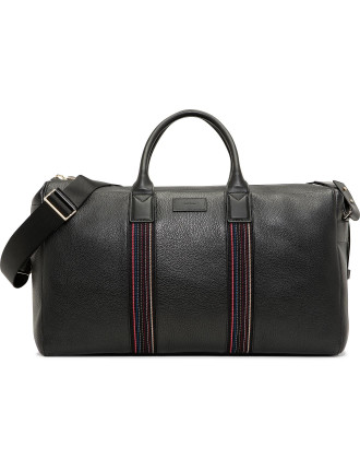 City Webbing Pebbled Leather Holdall