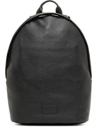 City Webbing Pebbled Leather Backpack