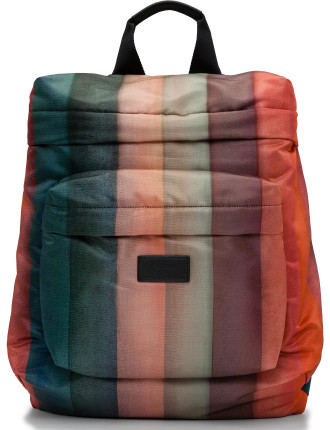 Painted Stripe Nylon Backpack