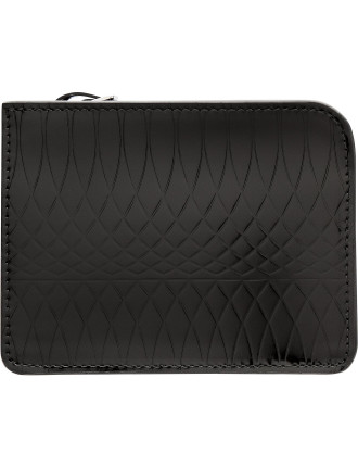 No 9. Gloss Printed Leather L-Zip Wallet Pouch