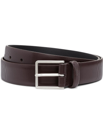Men Belt Stripe Saff
