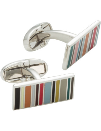 Multistripe Rectangular Cufflink