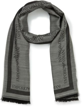 70x180 63/37 Modal/Wool Woven Logo Scarf