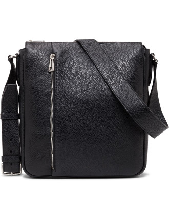City Pebbled Leather Small Cross Body Bag