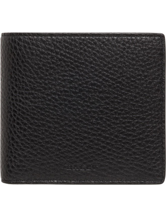 City Pebbled Pebbled Leather 4cc Billfold W/ Coin Pouch