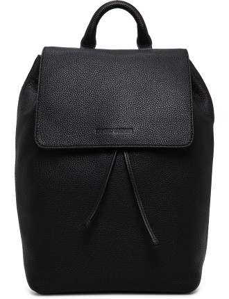 Linea Luxor Pebbled Leather Duffle Backpack